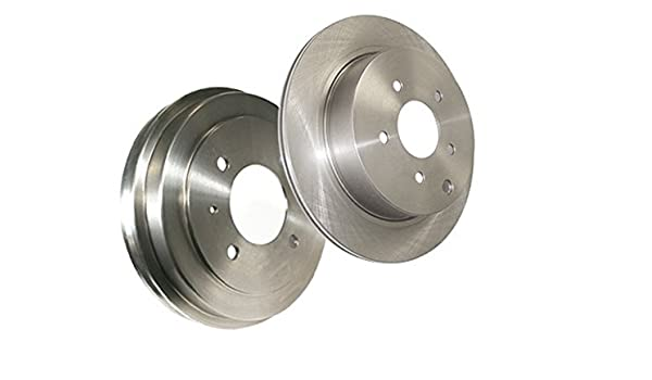 Power Stop K1149 Rear Z23 Evolution Brake Kit with Drilled//Slotted Rotors and Ceramic Brake Pads