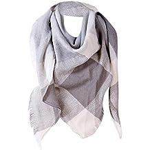 Malloom® Femme Echarpe Châle Cachemire Automne Plaid Treillis Laine foulard