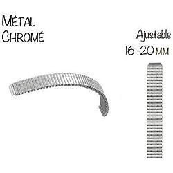 Einstellbare Armband-Uhr-Metall Extensible 16 bis 20 mm