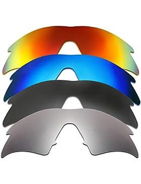 Hkuco Plus Mens Replacement Lenses For Oakley M Frame Sweep Red/Blue/Black/Titanium Sunglasses