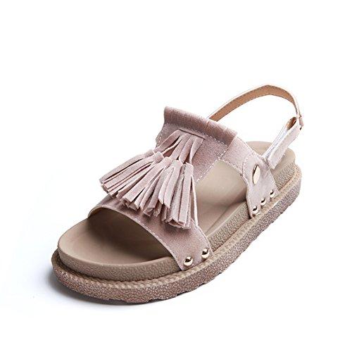 épaisse fashion Lady Sandals/Glands à la fin de l'école d'été du vent sandales/Une semelle souple de chaussures A