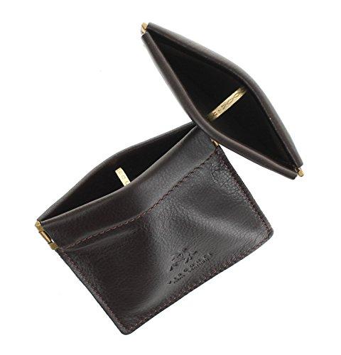 Visconti Leder Münzbörse, Zweierpack, Snaptop CP7 Schwarz Schokolade