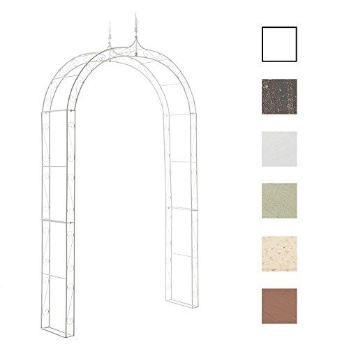 CLP Arche à rosiers en métal Lenz, Arcade pour rosiers grimpants, Ultra-élégant et très Stable, Blanc