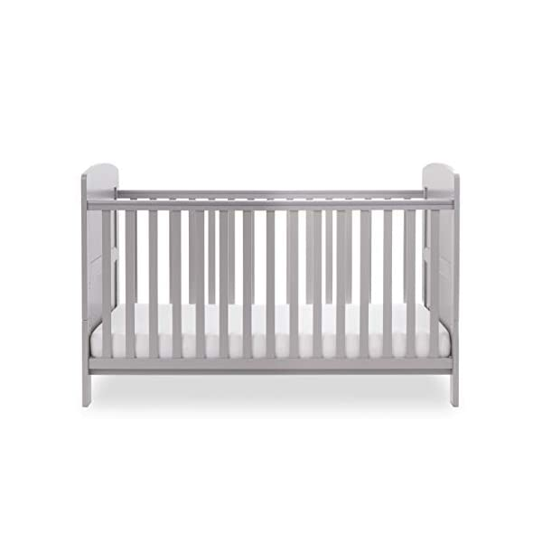 Obaby Grace Cot Bed, Warm Grey Obaby Adjustable 3 position mattress height Bed ends split to transform into toddler bed Protective teething rails along both side rails 5