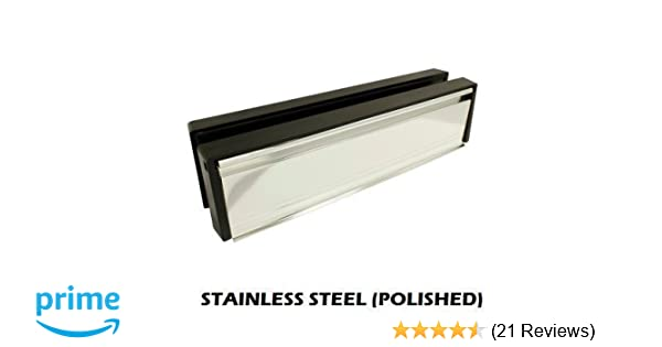 """10/"""" Inch Letter Box Plate Polished Silver uPVC Double Glazing Wood Doors Welseal"""