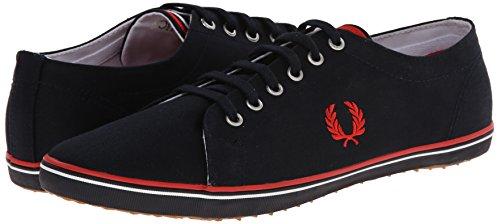 Fred Perry  Kingston Twill, Herren Sneaker 3, schwarz - Schwarz - Größe: EU 41 (UK 7)