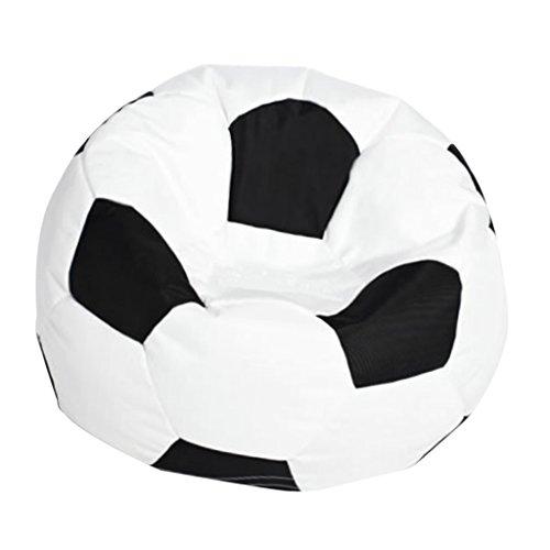 Baoblaze Fußball Sitzsack Bezug Bean Bag Sessel Sitzkissen Bezüge Abdeckung für Wohnzimmer Kinderzimmer - Weiß