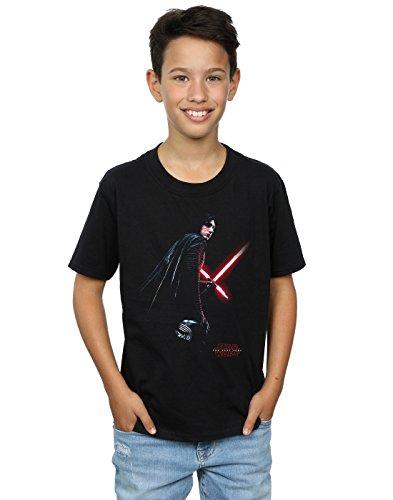 Star Wars niños The Last Jedi Kylo Ren Shadow Camiseta 5-6 Years Negro