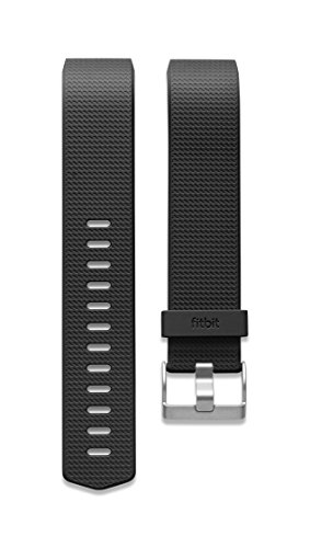 Imagen de fitbit charge 2 pulsera clásica, unisex, negro, s
