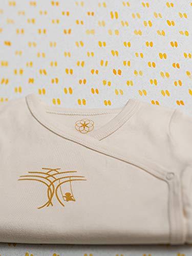 Organic by Feldman Unisex Baby Body Kurzarm Wickelbody aus Bio Baumwolle, GOTS Zertifiziert, Lebensfreude Natur, (50/56) - 5