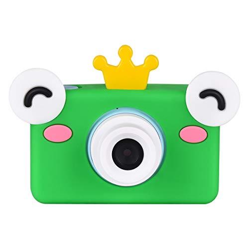 Miavogo Kinderkamera, Kamera Kinder 8 Megapixel 2 Zoll Display HD 1080p Digitalkamera Niedlich Stoßfest Kinderfotoapparat für Junge Mädchen 2 3 4 5 6 Jahre, Blau + Frosch-Schutzhülle