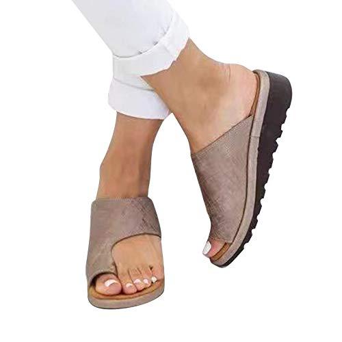 LIGGZ Chaussures orthopédiques pour Femmes en Cuir PU Sandales de Correction pour Gros Orteils Souples et correcteur d'oignon pour Femmes