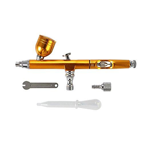 Kkmoon kit aerografo doppia azione professionale portatile set per tatuaggi nail art trucco spray con kit pulizia aerografo