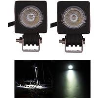2pz. 10w proiettori a led luce di lavoro per Offroad,carrello,4X4,4WD,off road,trattore,bus,serbatoio,ATV,motociclo veicolo lampada di