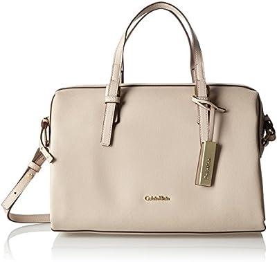 Calvin Klein M4RISSA Duffle, Bolsa para Mujer, Beige (Mushroom), 26 x 17 x 37 cm (b x h x t)