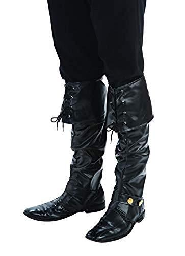 Deluxe Black Pirate Boot Tops Adult Costume - Black Pirate Kostüm
