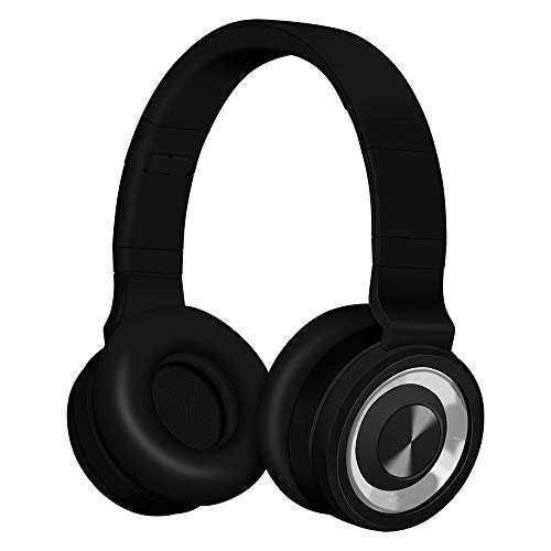 Bluetooth cuffie alitoo,senza fili headphones pieghevole auricolari wireless over ear stereo cuffie con microfono cancellazione del rumore per pc,smart tv, smartphone (argento nero)