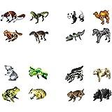 Juego de 16 encantadores animales pequeños puzzles Juguetes de montaje Puzzles