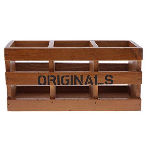 FLAMEER Allzweckkiste Holzkiste Holzbox Kiste Aufbewahrung Ordnung Spielzeugkiste Box