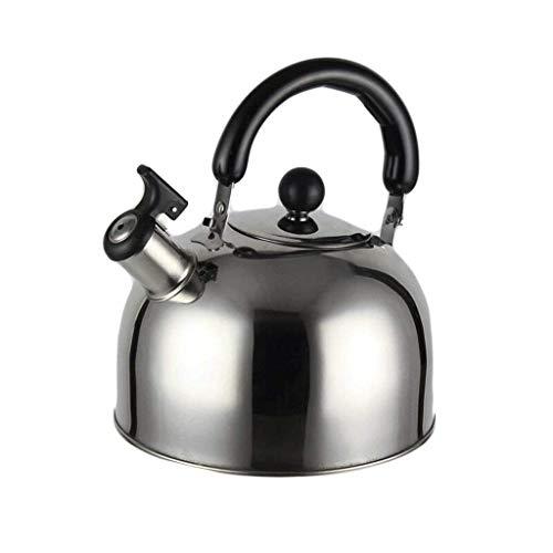 Cxmm Edelstahl Herd Pfeife mit großem Fassungsvermögen 3L, Silber, a (Tee-und Wasserkocher Ruhigen)