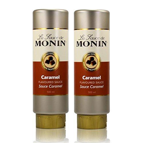 2x Monin Caramel Sauce 500 ml - Caramel Flavoured Sauce