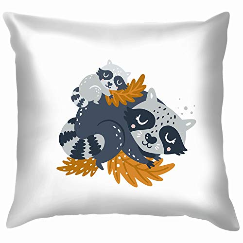 lipart Woodland Animal Mother Animals Wildlife The Arts Throw Pillows Covers Accent Home Sofa Cushion Cover Pillowcase Gift Decorative 18X18 Inch ()