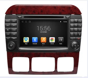 Gowe Android 4.4.4 Quad Core 1024 * 600 GPS Navigation 17,8 cm Auto-DVD-Player für BENZ S KLASSE W220 98-05 mit Bluetooth/RDS/Canbus/SWC/iPod 05 Ipod