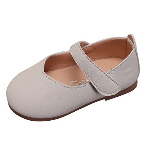 HDUFGJ Kinder Kleinkind Schuhe Infant Baby Mädchen Bowknot Einzelne Schuhe Party Prinzessin Schuhe 26 EU(Weiß)