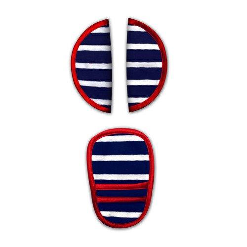 """Preisvergleich Produktbild """"Bounty"""" Babyschalen und Kinderwagen Gurtschoner (blau/weiß/rot)"""