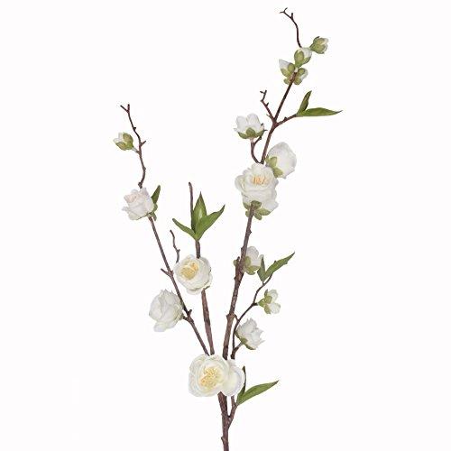 Jarown 94 cm branches de fleurs artificielles en soie Pêche Arrangement de fleurs de prune pour Home Office Artisanat Décoration