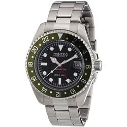 Nautec No Limit Men's Deep Sea Watch DS AT-GMT/STSTGRBK