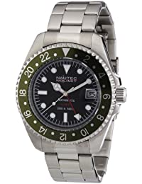 Nautec No Limit Herren-Armbanduhr Deep Sea DS AT-GMT/STSTGRBK