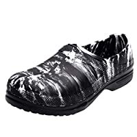 Men Summer Slip-on Water Shoes, Male Solid Round Toe Camouflage Waterproof Work Shoes Sandals