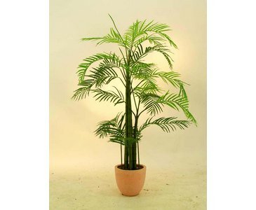 Areca Palme, Kunstpalme mit 13 Textil Blätter, mit Topf, Höhe 110cm – künstliche Palme Dekopalme