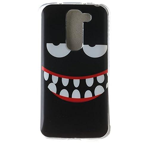 LG G2 mini Case, BONROY® LG G2 mini Fashion colorful pattern Case Bumper Transparent Soft Gel Shockproof Case Resist Protection Shell for LG G2 mini