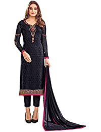 Likeadiva Like A Diva Floral Embroidered Salwar Kameez Semi Stitched Dress Material For Women