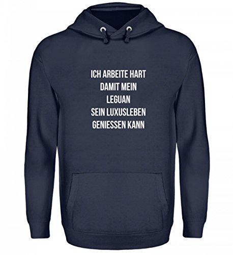 shirt-o-magic Ich Arbeite Hart für Meinen Leguan - Geschenk Leguan-Besitzer Leguan-Halter - Unisex Kapuzenpullover Hoodie