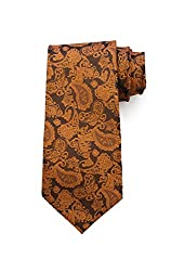 69th Avenue Mens Tie and Pocket Square(Brown)