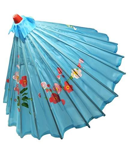 R&F SRLS Regenschirm Chinesisch Himmelblau OMBRELLINO Festliche Verkleidung -