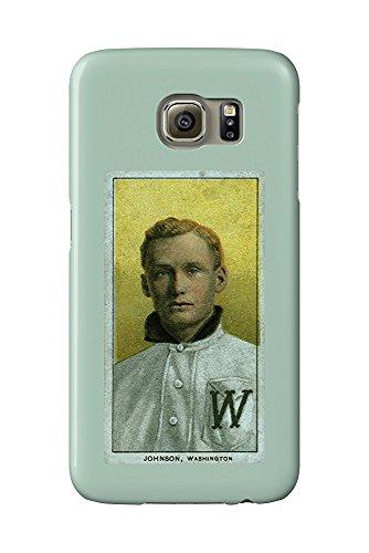 Walter Johnson Baseball (Washington Nationals - Walter Johnson - Baseball Card (Galaxy S6 Cell Phone Case, Slim Barely There))