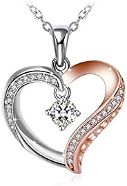 Swarovski Elements Crystal 925 Sterling Silver Pendant Necklace for Women Ladies Girls Gift JRosee Jewelry JR4
