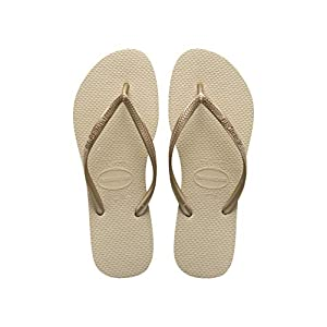 Havaianas Slim Infradito Donna, Oro (Sand Grey/Light Golden 2719) 41/42 EU