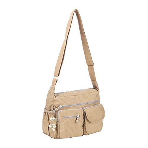 Yy.f Nuove Borse Signore Messenger Bag Borse A Tracolla Borsa Messenger Di Tendenza La Tendenza Di Messenger Bag Delle Donne Multi-colore Beige