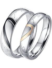 Aooaz CZ Vintage Shield Cross Couple Pendant Necklace Wedding Necklace for Couple