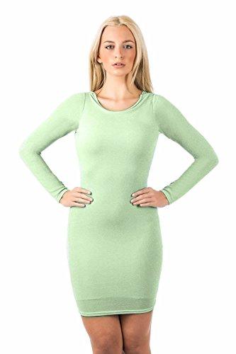 PILOT® christina manches longues lurex capot arrière de la robe moulante vert menthe