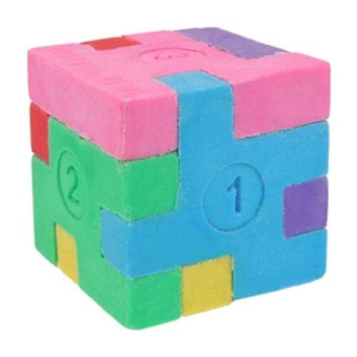 Japanische Radiergummis-Puzzle/Puzzleteile einen Würfel.