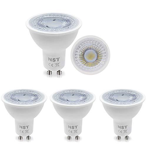 GU10 LED-Lampen, kühles Weiß 6500K Strahler Beleuchtung 6W Entspricht 50W Halogenlampen AC 220-240V 120 ° Abstrahlwinkel Nein Dimmbar Energieklasse A + 4er Pack -