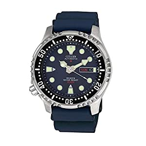 Citizen Reloj Analógico para Hombre de Automático con Correa en Plástico NY0040-17LE 13