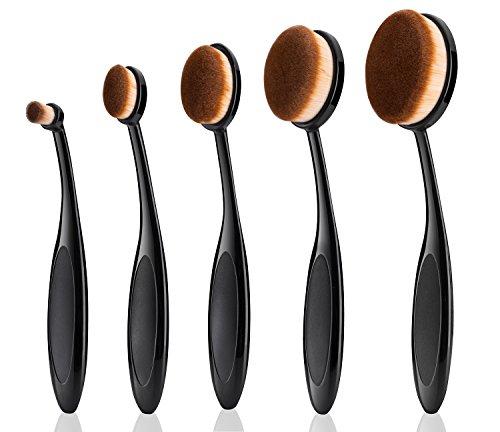Oval Pinsel Set,YierColor 5 Stück Schminkpinsel Makeup,weich Zahnbürsten Kosmetik Set (Sonicare-pinsel-set)