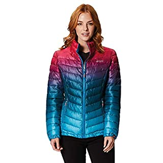 Regatta Women's Azuma II Lightweight Water Repellent Insulated Jacket, Moroccan Blue, Size 16
